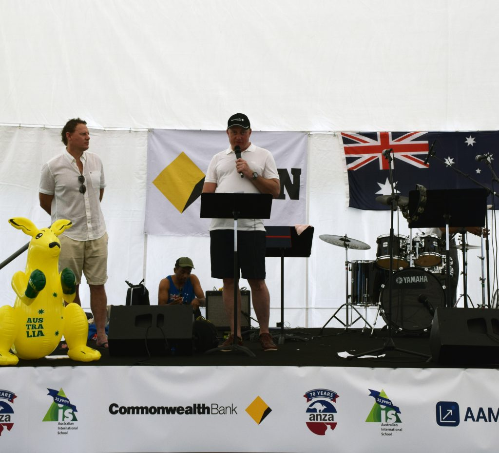 Daniel Mathews of Commonwealth Bank at ANZA's Great Australia Day BBQ
