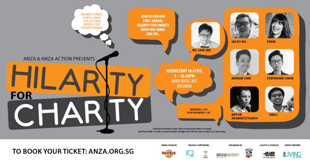 ANZA Singapore's Hilarity for Charity event at the Hard Rock Cafe