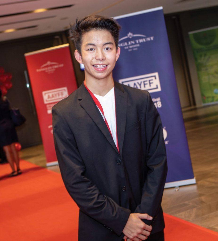 Director Ewan Windebank, winner of the Across Asia Youth Film Festibal Tanglin Trust School