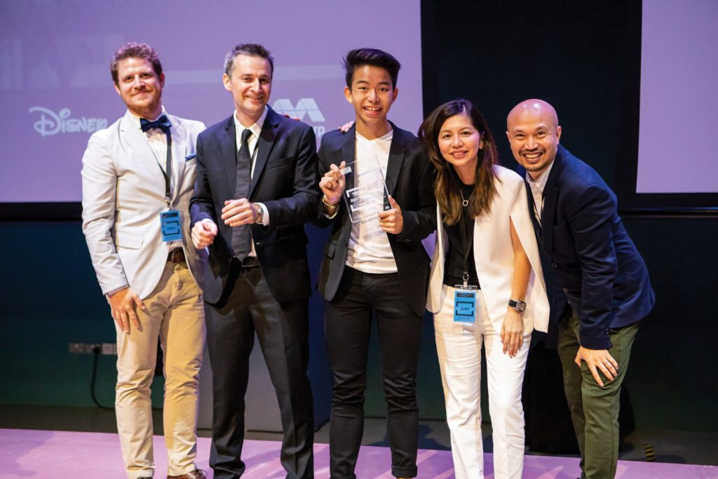 Director Ewan Windebank, winner of the Across Asia Youth Film Festibal Tanglin Trust School
