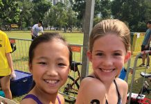 ANZA Cycling kids do triathlon in Singapore