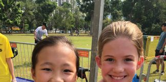 ANZA Cycling kids do triathlon in Singapore