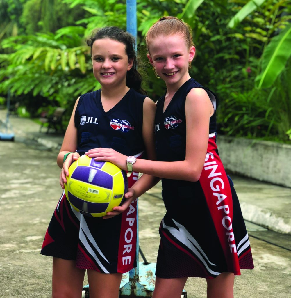 ANZA netball players in Singapore