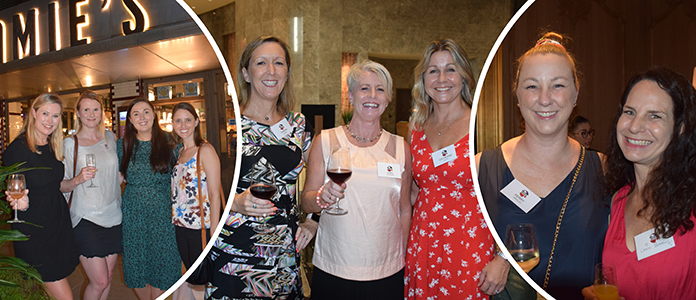 ANZA ladies night, happy women, Making new friends
