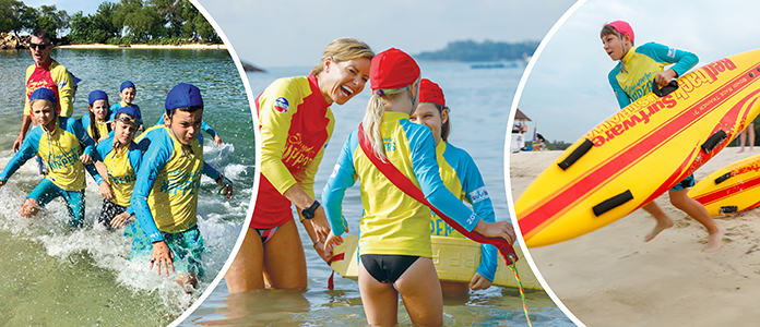 ANZA Nippers; Surf Lifesavers on Sentosa Beach; Kids swimming activities