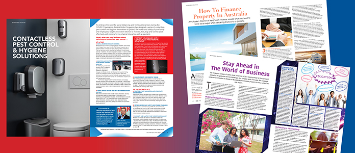 Sponsored features in ANZA Magazine
