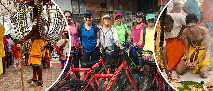 ANZA Tours in Singapore, Cycling tour, Thaipusam
