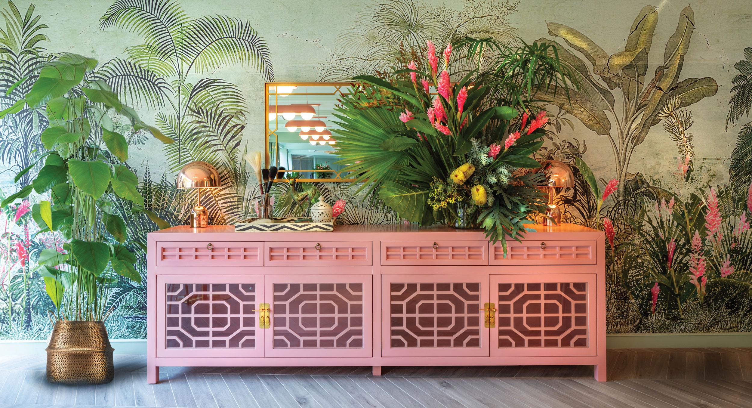 Austalian Designer, pink Oriental Counter