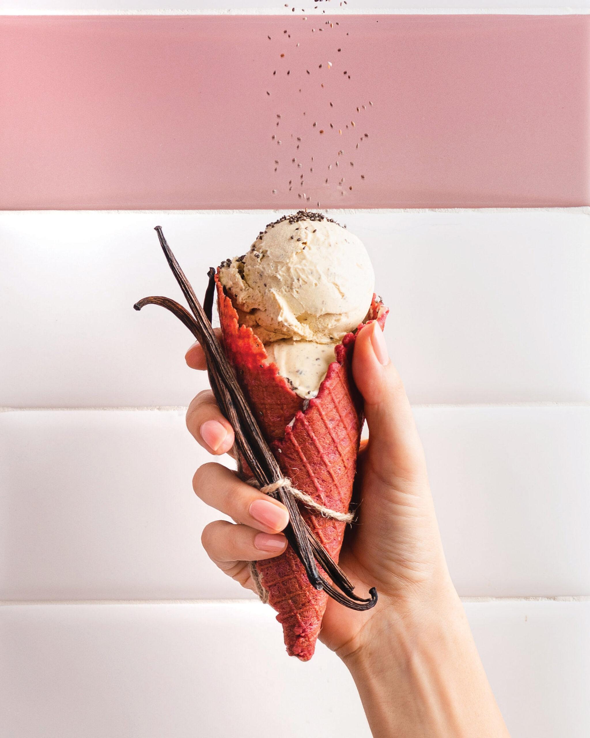 Vanila ice-cream cone