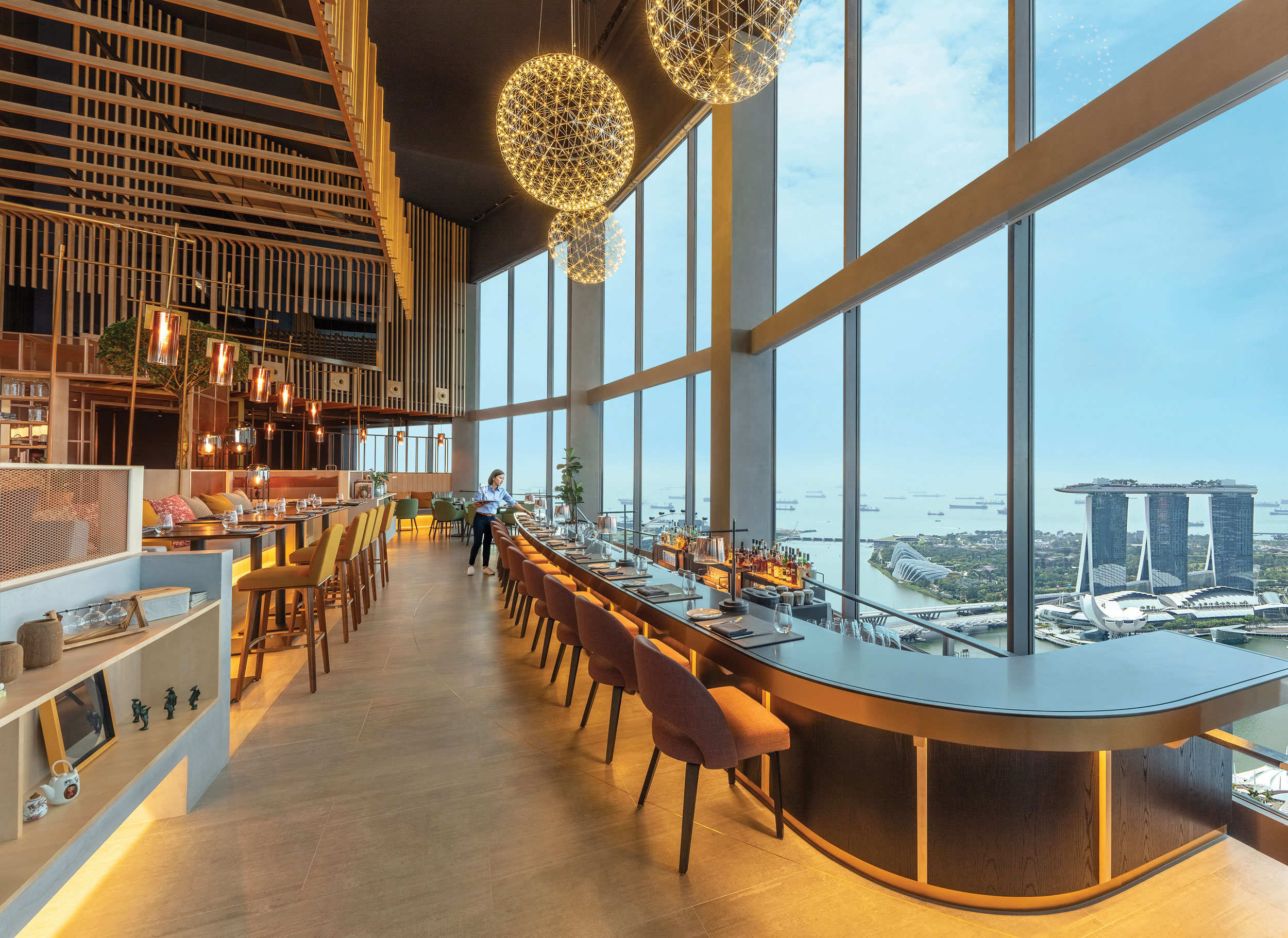 restaurant with view of MBS