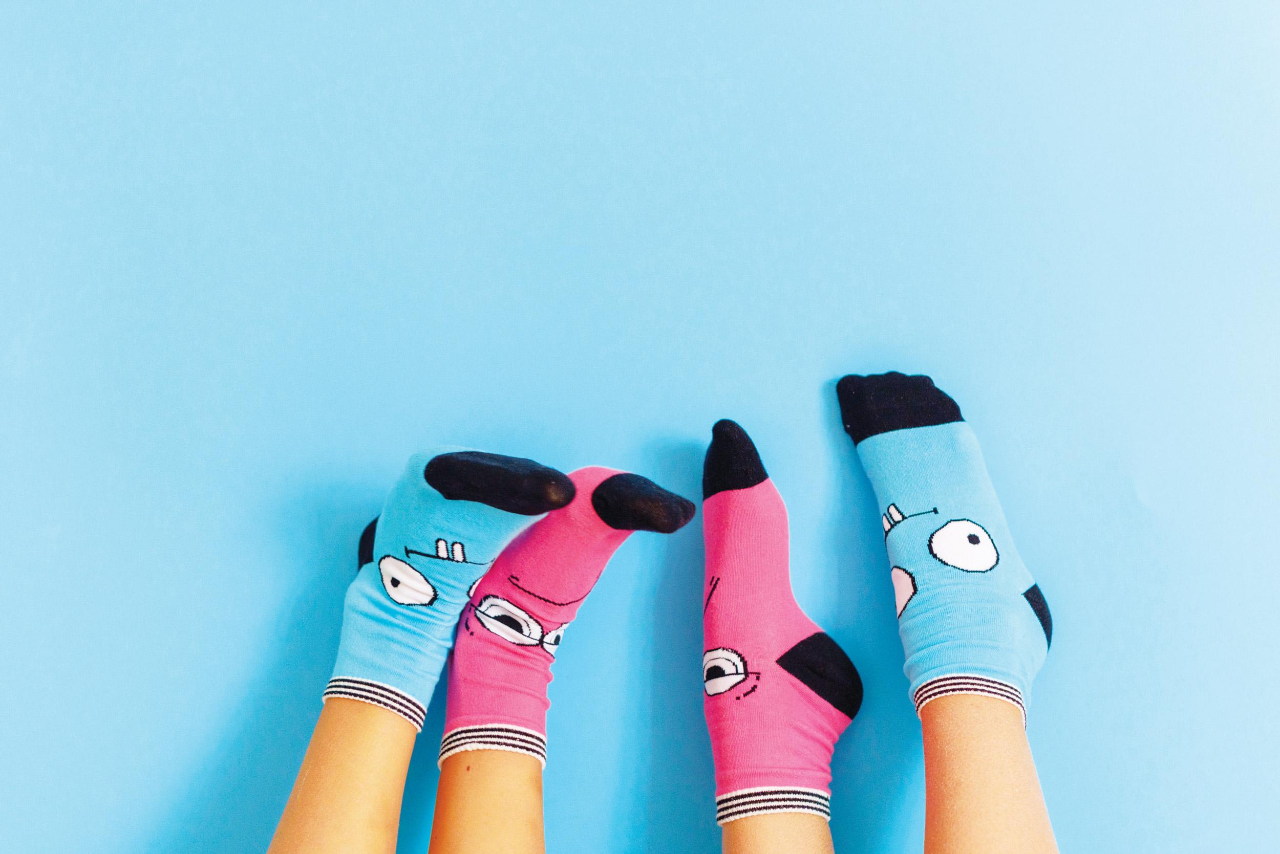 funny socks on feet
