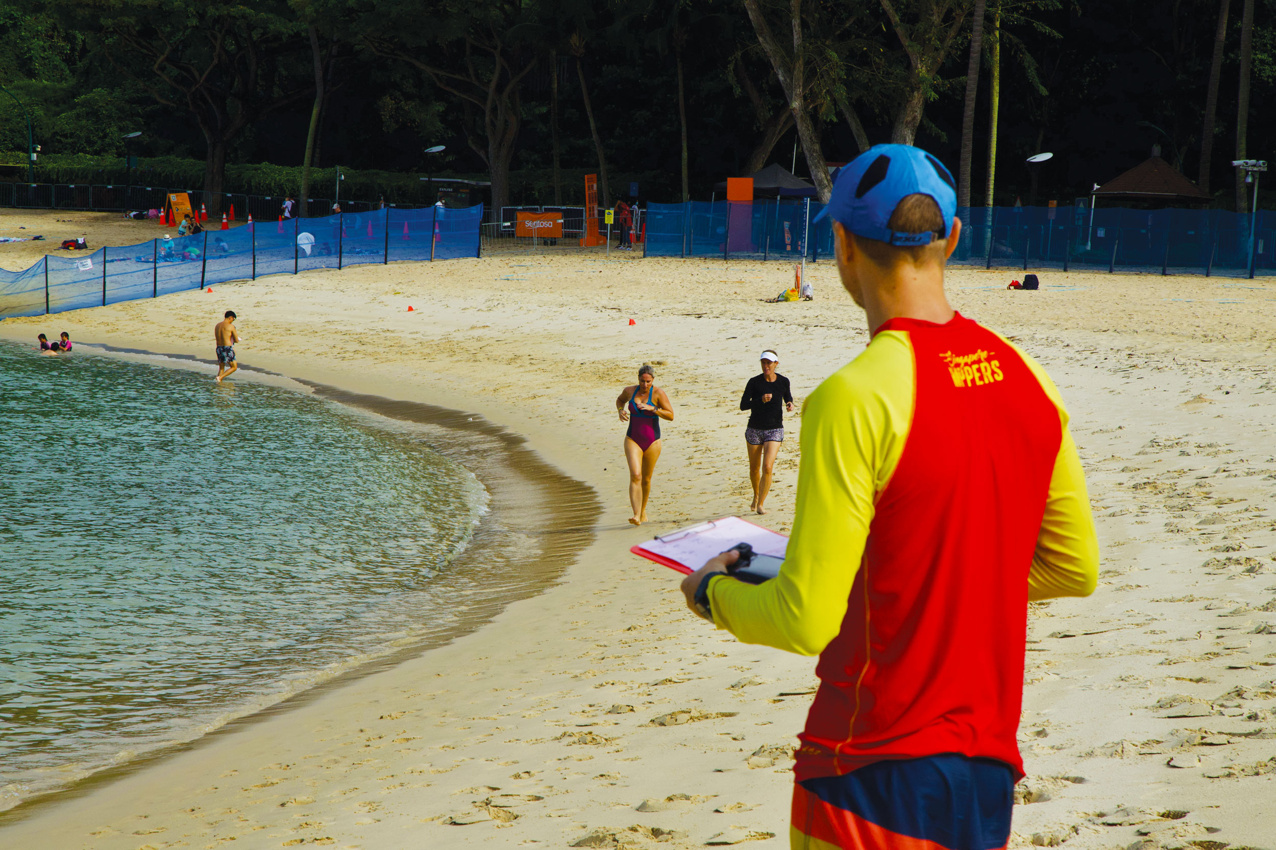 coaches training, Sentosa