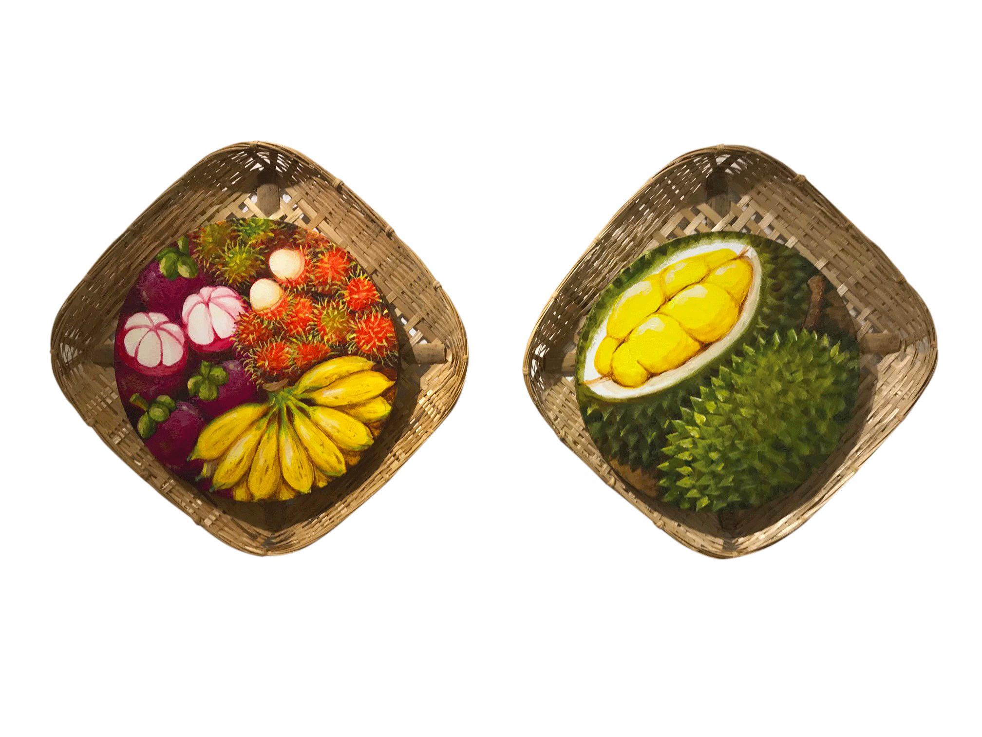Singapore art, Durian, mangosteen, fruit art