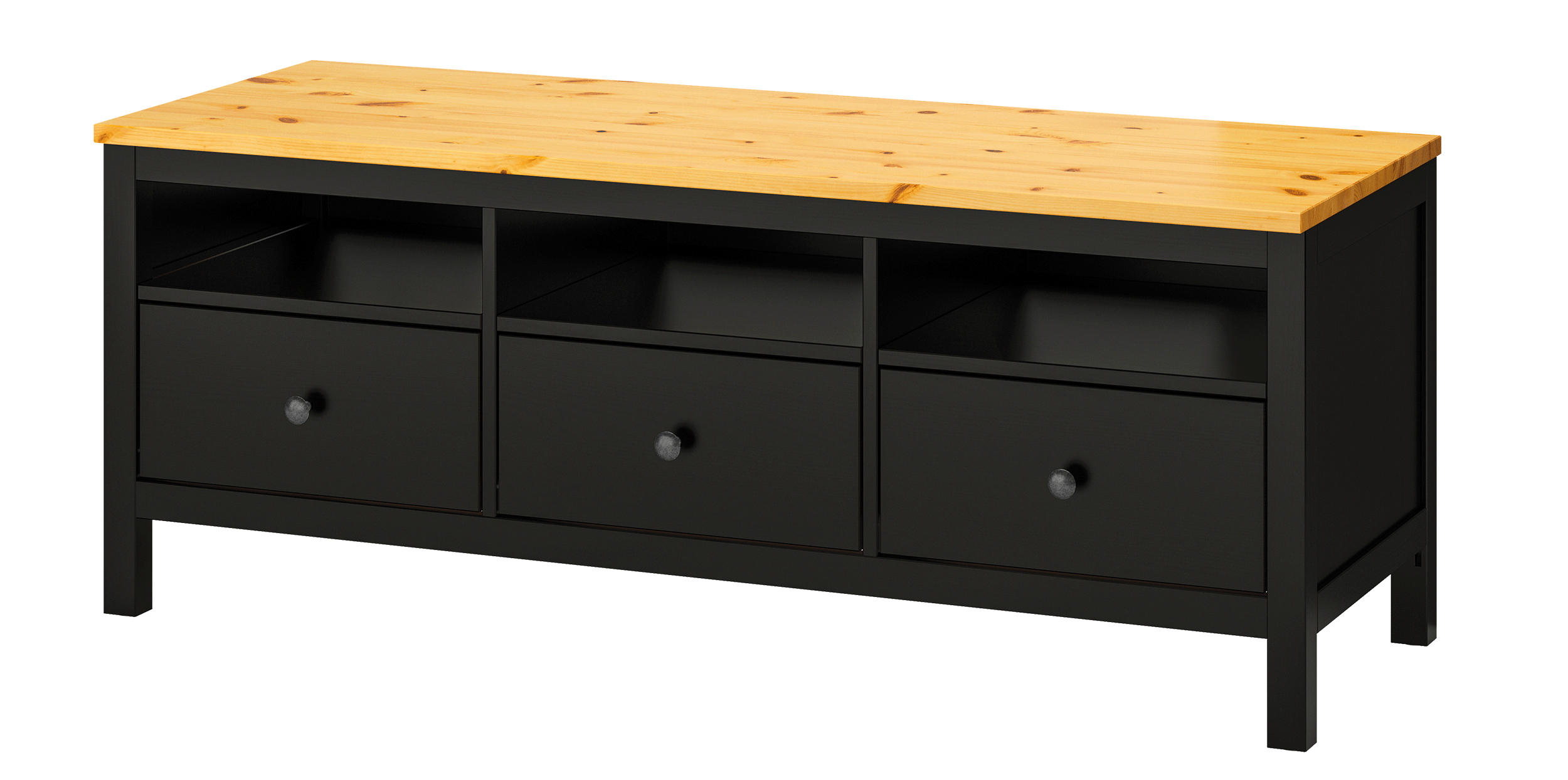 IKEA HEMNES TV bench in black-brown
