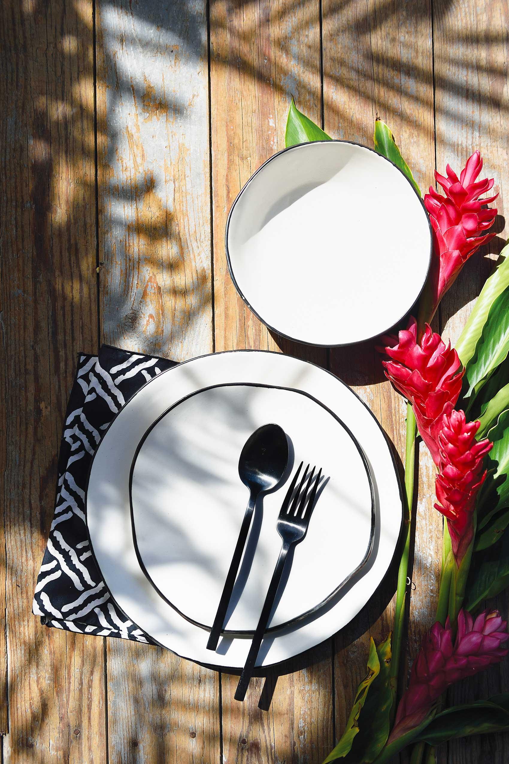 Andaman free-form dinner plates, KRA Sanctuary